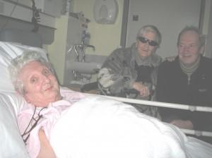 Kath in hospital