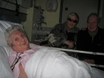 Kath in hospital